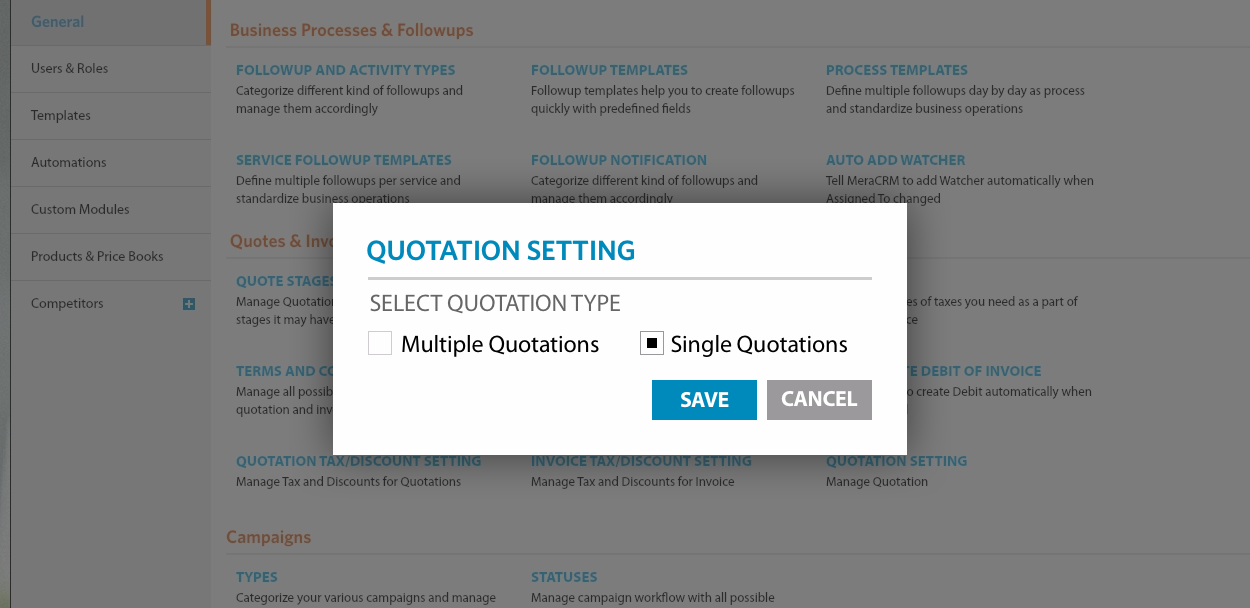 Option added in product-price custom field to generate new quotation on custom field value change