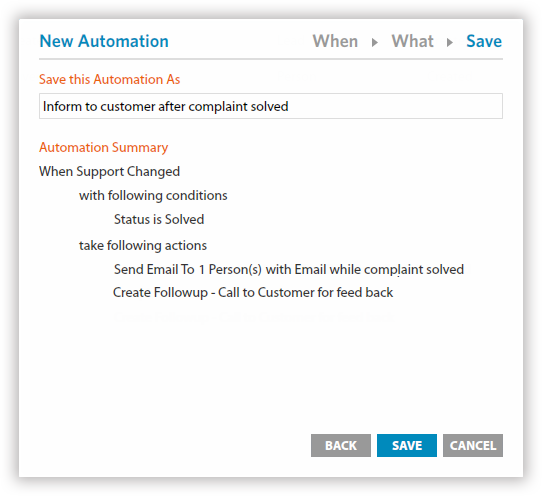Email Automation to send automated alerts to your team when a new inquiry comes.