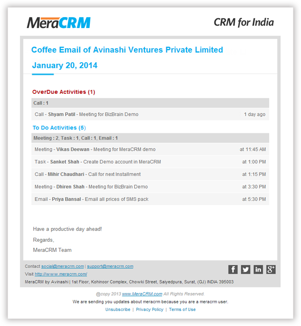 CRM Task Management & Daily Routine Plan | Follow Up Tasks - MeraCRM