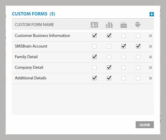 Add Custom Forms