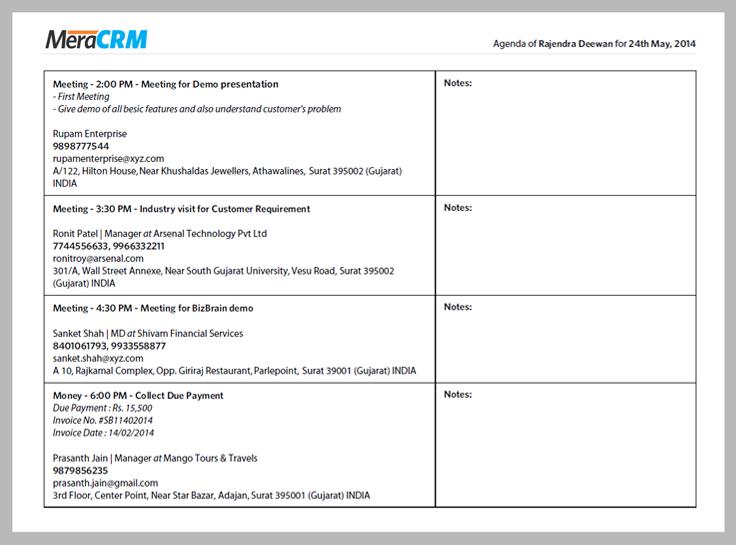 Team's detailed worksheets