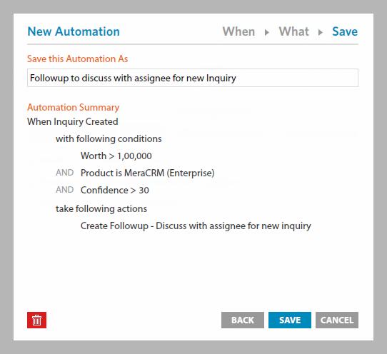 Automation details